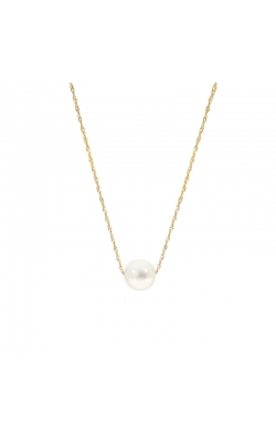 8.5-9mm Cultured Freshwater White Pearl Threaded Pendant in 14K Yellow Gold product image
