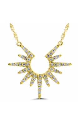 Sunburst Diamond Necklace in Yellow Gold, 1/10ctw product image