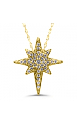 Eight-Point Star Diamond Necklace in Yellow Gold, 1/10ctw product image