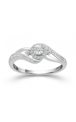 Miracle Diamond Halo Promise Ring In Sterling Silver, 1/10ctw product image