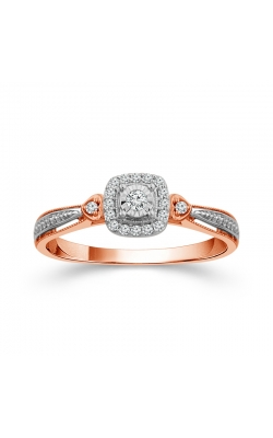 Miracle Diamond Halo Promise Ring In Two-Tone Gold, 1/8ctw product image