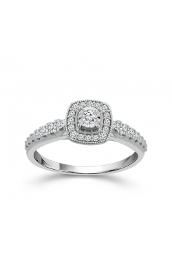 Miracle Diamond Halo Promise Ring In White Gold, 1/4ctw product image