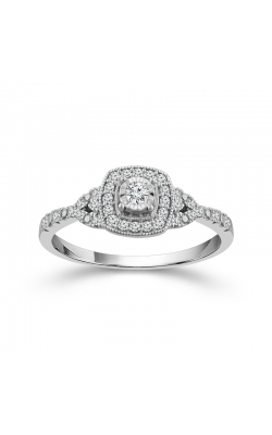 Miracle Diamond Cushion Frame Promise Ring In White Gold, 1/4ctw product image