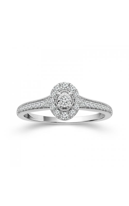 Oval Halo Miracle Diamond Promise Ring in White Gold, 1/4ctw product image