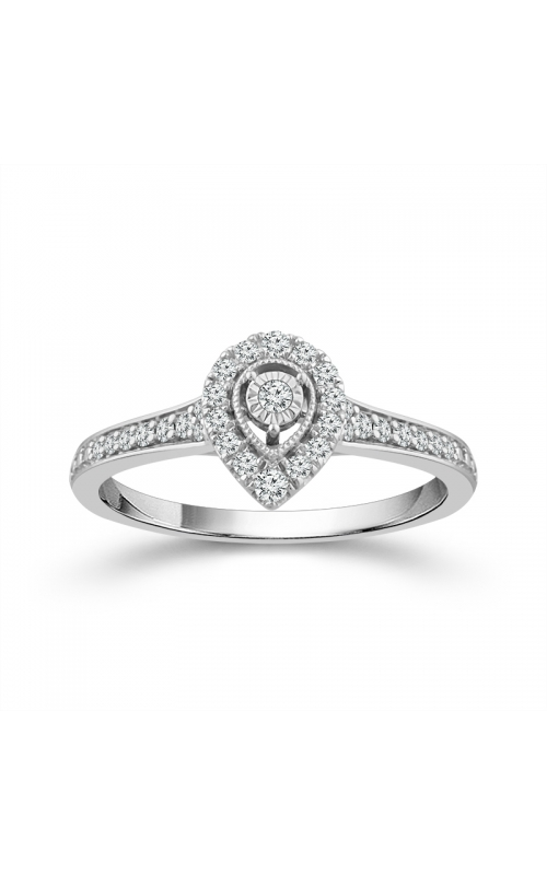 Teardrop Miracle Diamond Halo Promise Ring in White Gold, 1/4ctw product image