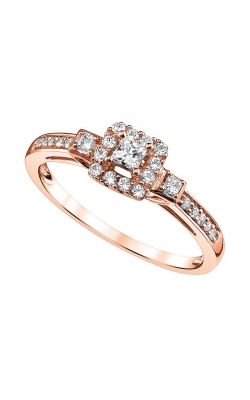 Princess-Cut Diamond Halo Promise Ring In Rose Gold, 1/4ctw product image