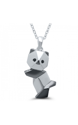 Origami Panda Pendant In Sterling Silver product image