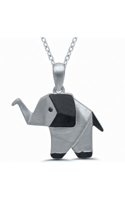 Origami Elephant Pendant in Sterling Silver product image