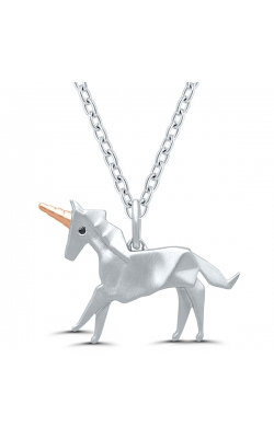 Origami Unicorn Pendant In Sterling Silver product image