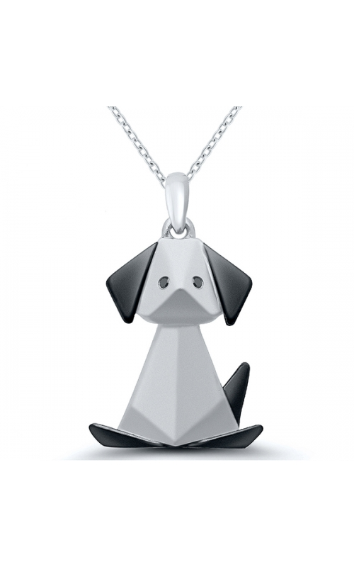 Origami Dog Pendant in Sterling Silver product image