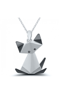 Origami Cat Pendant in Sterling Silver product image