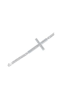 Diamond Cross Bracelet in Sterling Silver, 1/8ctw product image