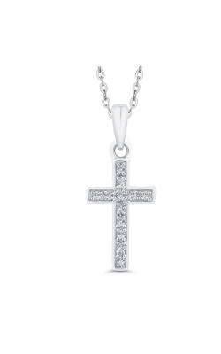 Diamond Accent Cross Pendant in Sterling Silver product image