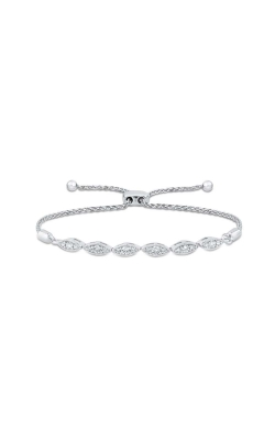 Diamond Marquise-Shape Bolo Bracelet In Sterling Silver, 1/3ctw product image
