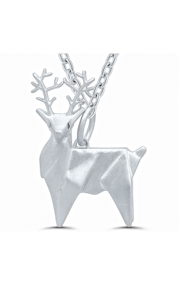 Origami Reindeer Pendant In Sterling Silver product image