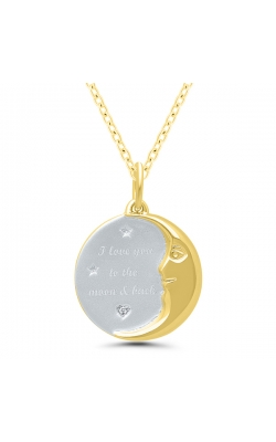 I love you to the moon & back Disc Diamond Pendant product image