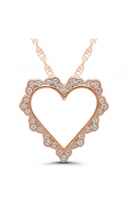 Diamond Outline Heart Pendant in 14K Rose Gold, 1/10ctw product image