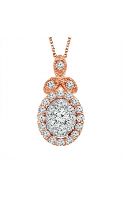 Composite Diamond Frame Pendant in 14K Rose Gold, 1/3ctw product image