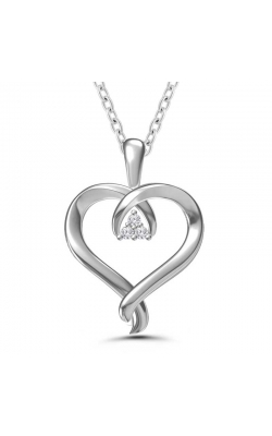 Kissing Hearts Diamond Heart Pendant in Sterling Silver product image