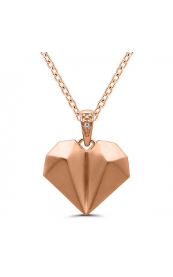 Origami Heart Necklace in Sterling Silver product image
