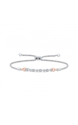 Diamond Pear-Shape Bolo Bracelet in Two-Tone Sterling Silver, 1/5ctw product image