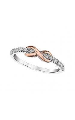 Diamond Infinity Promise Ring In Sterling Silver And Rose Gold, 1/20ctw product image