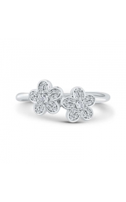 Diamond Cluster Flower Ring In Sterling Silver, 1/5ctw product image