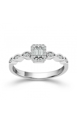 Composite Diamond Frame Promise Ring in White Gold, 1/6ctw product image