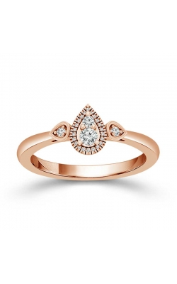 Teardrop Diamond Halo Promise Ring in Rose Gold, 1/6ctw product image