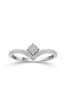 Cluster Diamond Chevron Promise Ring in White Gold, 1/8ctw product image