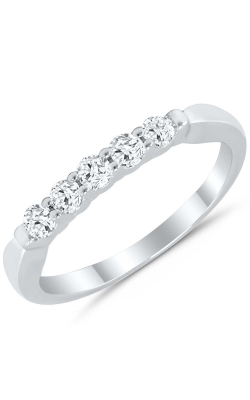 Five Stone Diamond Anniversary Band In 14K White Gold, 1/4ctw product image