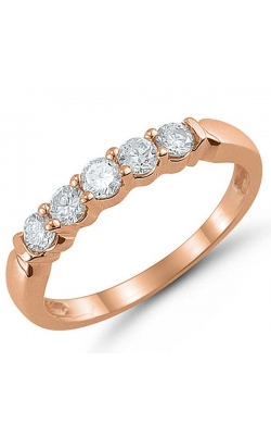 Five Stone Diamond Anniversary Band In 14K Rose Gold, 1/2ctw product image