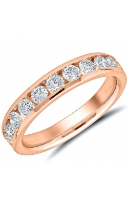 Channel Set Diamond Anniversary Band In 14K Rose Gold, 1ctw product image