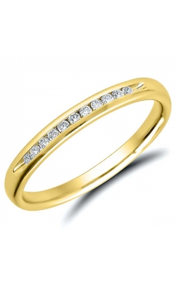 Channel Set Diamond Anniversary Band In Yellow Gold, 1/10ctw product image