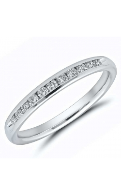Channel Set Diamond Anniversary Band In 14K White Gold, 1/4ctw product image