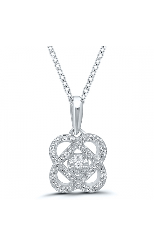 Only You Miracle Diamond Pendant in Sterling Silver, 1/20ctw product image