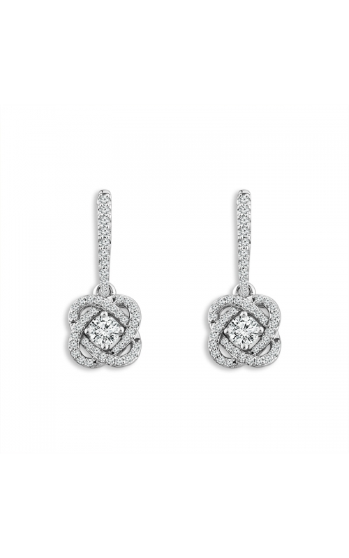 Only You Diamond Earrings in 14K White Gold, 1/2ctw product image