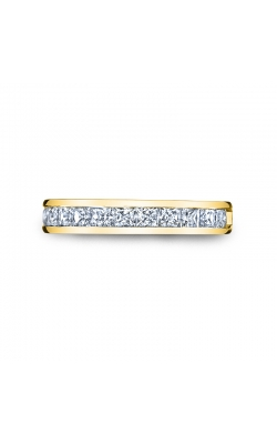 Channel Set Princess-Cut Diamond Wedding Band In 14K Yellow Gold, 1/4ctw product image