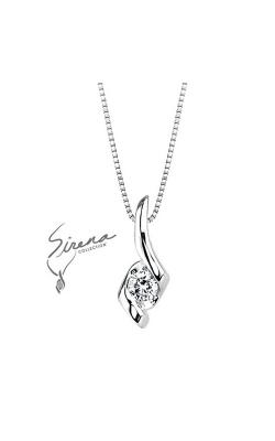 Sirena Diamond Pendant in 14K White Gold, 1/4ctw product image