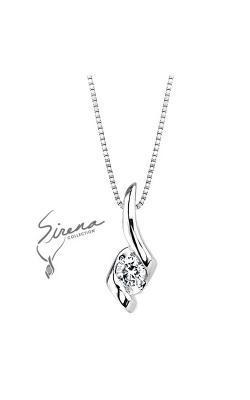 Sirena Diamond Pendant in 14K White Gold, 1/8ctw product image