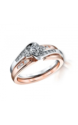 Royal Colorless Diamond Collection Diamond Bridal Set in 14K Two-Tone Gold, 1/2ctw product image
