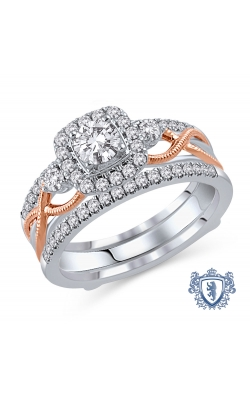 Royal Colorless Diamond Collection Diamond Bridal Set in 14K Two-Tone Gold, 1ctw product image