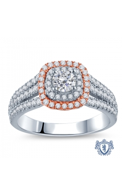 Royal Colorless Diamond Collection Diamond Engagement Ring in 14K Two-Tone Gold, 1ctw product image