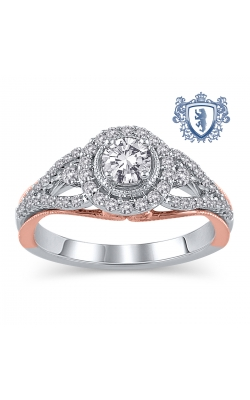 Royal Colorless Diamond Collection 14K Two-Tone Gold Diamond Engagement Ring, 3/4ctw product image