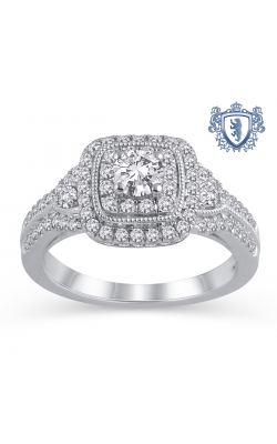 Royal Colorless Diamond Collection Diamond Engagement Ring in 14K White Gold, 1ctw product image