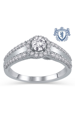 Royal Colorless Diamond Collection 14K White Gold Diamond Engagement Ring, 3/4ctw product image