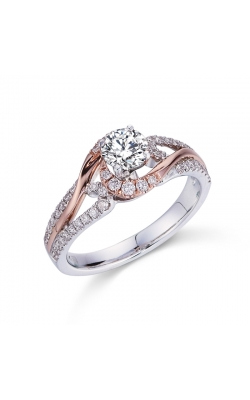 Royal Colorless Diamond Collection Twist Diamond Engagement Ring in 14K Two-Tone Gold, 2/3ctw product image
