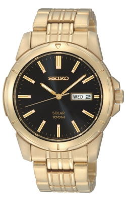 Seiko Men's Gold-Tone Stainless Steel Solar Watch - SNE100 product image