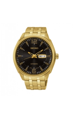Seiko Recraft Men's Gold-Tone Black Dial Automatic Watch - SNKN48 product image