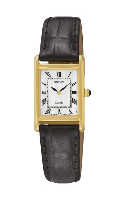 Seiko Women's Solar Black Leather Strap Watch - SUP250 product image